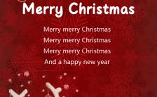 红色喜庆可爱麋鹿圣诞节主题节日祝福手机海报缩略图