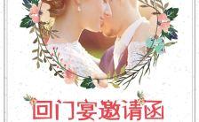 白色清新插画风婚礼回门宴邀请函宣传H5模板缩略图