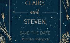 奢华复古浪漫手绘婚礼邀请函结婚请柬H5模板缩略图