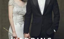 黑白高端文艺电影风婚礼请柬邀请函H5模板缩略图