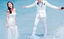 清新浪漫海景婚礼邀请函H5模板缩略图