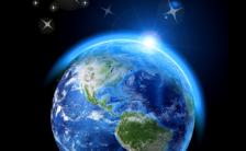 酷炫熄灯一小时地球一小时环保公益宣传H5模板缩略图