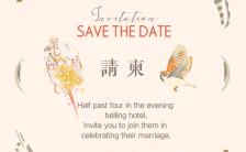 现代中式日式和风复古手绘主题婚礼请柬邀请函H5模板缩略图