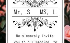 高端轻奢浪漫手绘婚礼请柬结婚邀请函H5模板缩略图