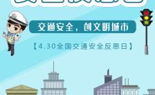 4.30全国交通安全反思日宣传H5模板缩略图