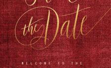 红色 金色 现代简约 布艺机理材质 金箔 婚礼 婚宴 邀请函H5模板缩略图