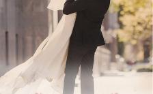 白色时尚浪漫婚礼邀请函结婚请柬H5模板缩略图