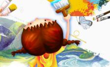 炫彩斑斓作品展示相册展示小小艺术家绘画招生H5模板缩略图