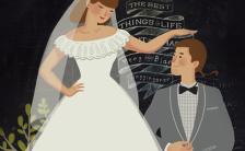 创意清新浪漫婚礼邀请函H5模板缩略图