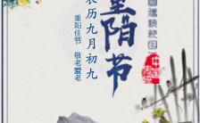 重阳节中国传统节日活动邀请函中国风H5模板缩略图