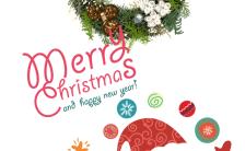 简洁版卡通圣诞祝福贺卡H5模板缩略图