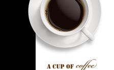 黑白色调简约风下午时光咖啡店促销活动H5模板缩略图