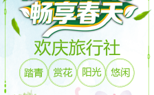 初春踏青旅游旅行社线路推介H5模板缩略图