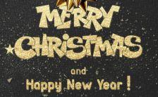 黑金酷炫时尚圣诞节促销活动宣传h5模板缩略图