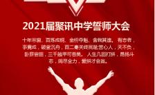 红色热血高考誓师大会决战高考手机海报缩略图