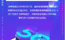 蓝紫色渐变5.17世界电信日宣传手机海报缩略图