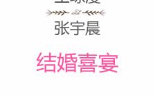 小清新淡雅文艺手绘水彩花朵婚礼邀请函手机海报缩略图