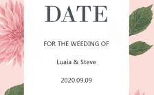 轻奢简洁复古浪漫手绘花卉婚礼电子海报邀请函海报模板缩略图