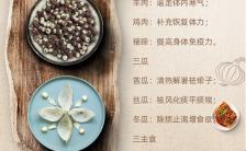 小清新中国风餐饮行业三伏天养生美食促销宣传手机海报缩略图