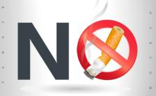世界无烟日禁止吸烟公益倡导活动H5模板缩略图