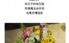 简约图文结合鲜花促销长单页缩略图