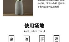 现代极简风陶瓷花瓶花瓶推广长单页缩略图